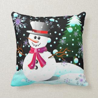 Schneemann-frohe Weihnachten Kissen