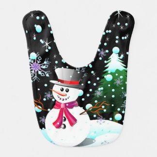 Schneemann-frohe Weihnachten Lätzchen