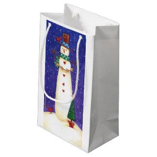 Schneemann-Geschenk-Tasche Kleine Geschenktüte