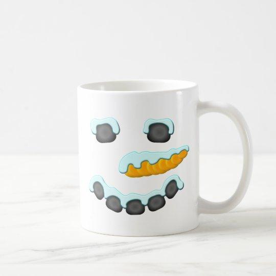 Schneemann-Gesichts-Entwurf Kaffeetasse