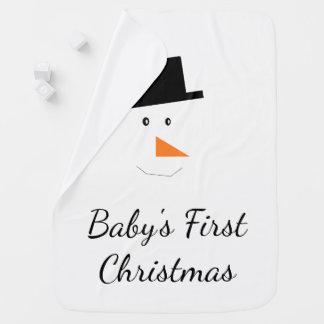 Schneemann-Gesichts-Gewohnheit des Babys erste Kinderwagendecke