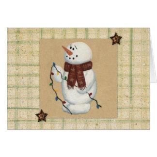 Schneemann-Großdruck-Weihnachtskarte Grußkarte