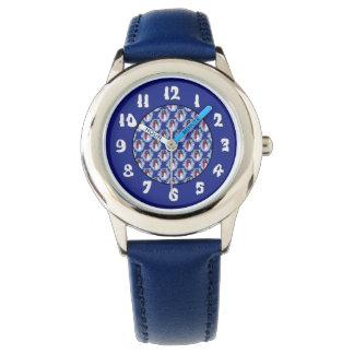 Schneemann-grünes Hut-Blau Armbanduhr