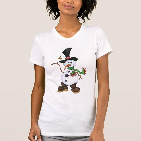 Schneemann im schwarzen Hut T-Shirt