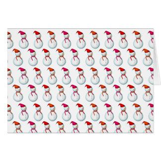 Schneemann Muster Motiv Weihnachtsgruss Karte