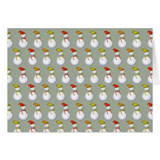 Schneemann Muster Weihnachtsgruss Karte