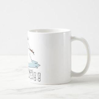 Schneemann-Schmelzen Kaffeetasse
