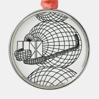 Schneemann Silbernes Ornament