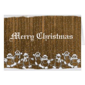 Schneemann-Weihnachtskarte Grußkarte