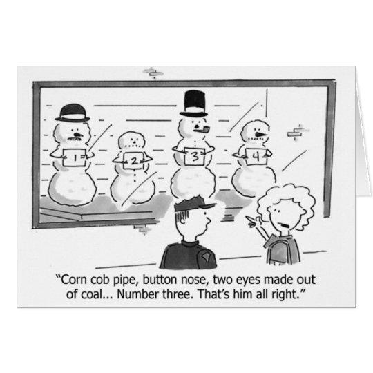 Schneemänner in der Prision Gruß-Karte Grußkarte