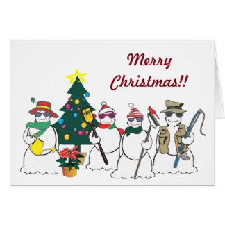 Schneemanngeschäfts-Gruß Karte
