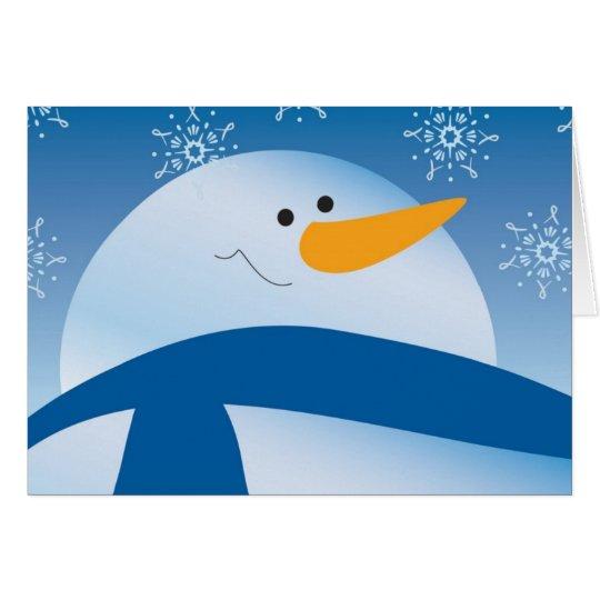 Schneemanngrußkarte Grußkarte