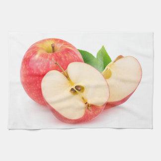 Schneiden Sie rote Äpfel Handtuch