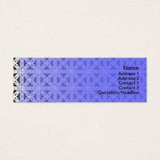 Schneidene Muster Mini Visitenkarte
