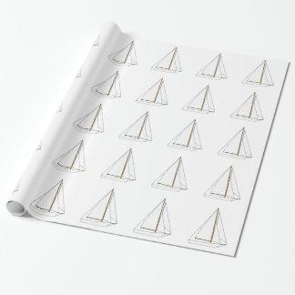 Schneider-Segelboot-Illustration Geschenkpapier