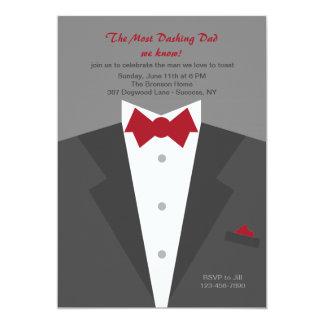Schneidige der Vatertags-Einladung Vati- 12,7 X 17,8 Cm Einladungskarte