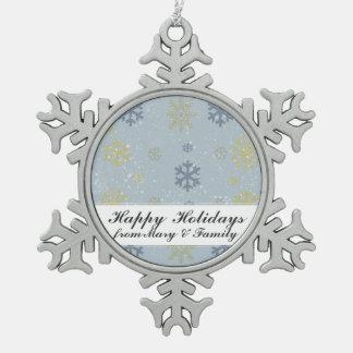 Schneiender Schneeflocken Zinn-Ornament