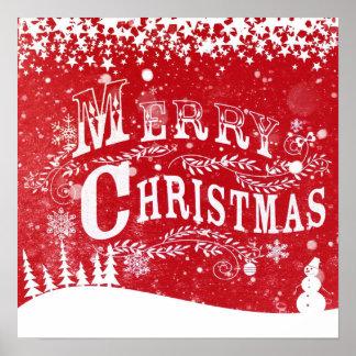 Schneiendes frohe Weihnacht-Designer-Plakat Poster