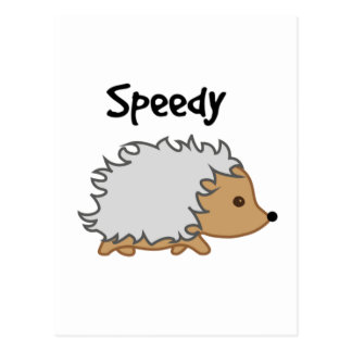 Schnell die Igels-Cartoon-Illustration Postkarte