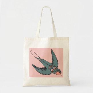 Schnell Swooping Schwalben-Taschen-Rosa Tragetasche