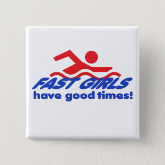 Schnelle Mädchen-quadratischer Knopf Quadratischer Button 5,1 Cm