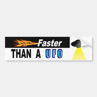 Schneller als A UFO Autoaufkleber