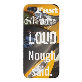 Schnelles glänzendes lautes, gelbes Motorrad iPhone 5 Hüllen