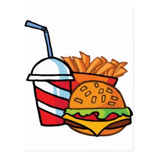 Schnellimbiss-Cheeseburger Postkarte