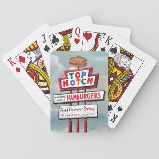 Schnellimbiss-Zeichen Spielkarten