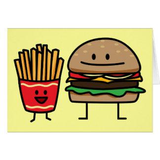 Schnellimbißbrötchenkram des Hamburgers und der Karte