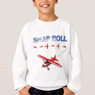 SchnellrollenAerobatic Manöver mit rotem Flugzeug Sweatshirt