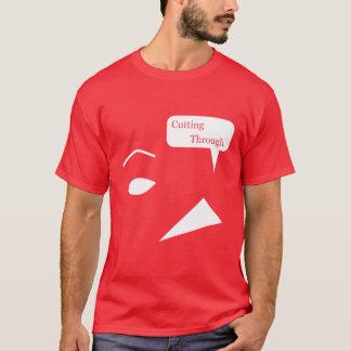 Schnitt durch Gesicht T-Shirt