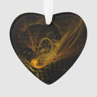 Schnittpunkt-abstraktes Kunst-Acryl-Herz Ornament