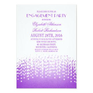Schnur beleuchtet elegantes lila Verlobungs-Party 12,7 X 17,8 Cm Einladungskarte