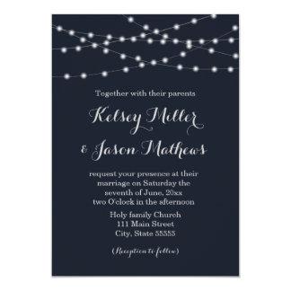 Schnur beleuchtet Hochzeitseinladung Karte
