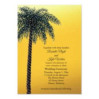 Schnur beleuchtet Palme-goldene Karte