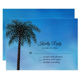 Schnur beleuchtet Palme UAWG Watercolor Karte