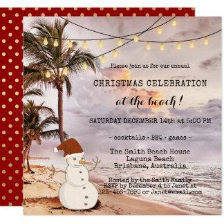 Schnur beleuchtet Strand-WeihnachtsParty Einladung