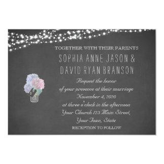 Schnur beleuchtet Weckglas-Tafel-Hochzeit einladen 12,7 X 17,8 Cm Einladungskarte