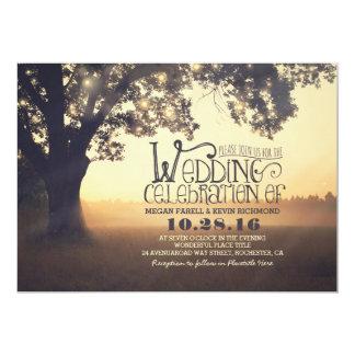 Schnur der Licht-Baum-rustikalen Vintagen Hochzeit 12,7 X 17,8 Cm Einladungskarte