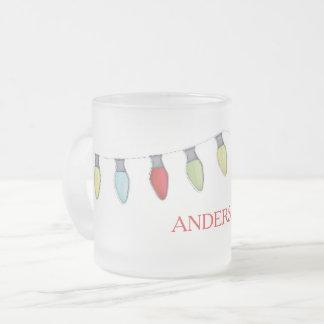 Schnur der Licht-mattierten Tasse