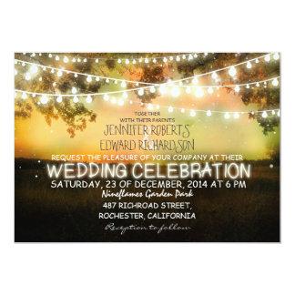 Schnur der rustikalen Hochzeitseinladung der 12,7 X 17,8 Cm Einladungskarte