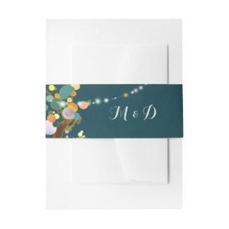 Schnur-helle Baum-aquamarine Hochzeit Einladungsbanderole
