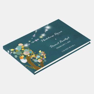 Schnur-helle Baum-aquamarine Hochzeit Gästebuch