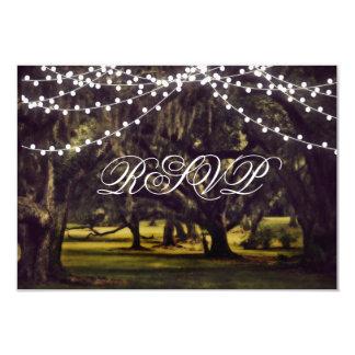 Schnur Licht-rustikaler Eichen-Baum-Hochzeit UAWG 8,9 X 12,7 Cm Einladungskarte