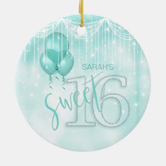 Schnur-Licht-u. Ballon-Bonbon 16 aquamarines ID473 Keramik Ornament