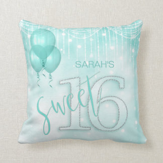 Schnur-Licht-u. Ballon-Bonbon 16 aquamarines ID473 Kissen