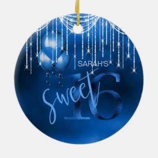 Schnur-Licht-u. Ballon-Bonbon 16 DK blaues ID473 Keramik Ornament