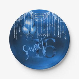 Schnur-Licht-u. Ballon-Bonbon 16 DK blaues ID473 Pappteller