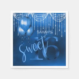 Schnur-Licht-u. Ballon-Bonbon 16 DK blaues ID473 Servietten